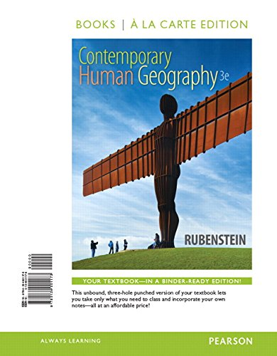Contemporary Human Geography, Books a la Carte Edition (3rd Edition)