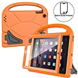 AVAWO Kids Case Built-in Screen Protector for iPad 2 3 4 - ShockProof Handle Stand Kids Friendly Compatible with iPad 2nd 3rd 4th Generation (Orange)