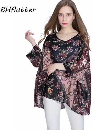 ASGHILL Boho Mujeres Tops Tees Blusas Verano Batwing Casual Blusa de Gasa Camisa 4XL 5XL 6XL Tallas Grandes Ropa de Mujer: Amazon.es: Deportes y aire libre