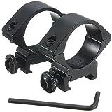 30mm Rifle Scope Tube Ring Set Med-Profile For 20mm Weaver Rail Mount