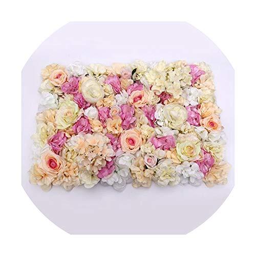 - 60X40Cm Artificial Flower Wall Decoration Road Lead Hydrangea Peony Flower for Wedding Arch Pavilion Corners,I