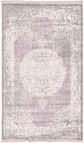 Unique Loom 3130012 Area Rug 3' x 5' Rectangle Purple
