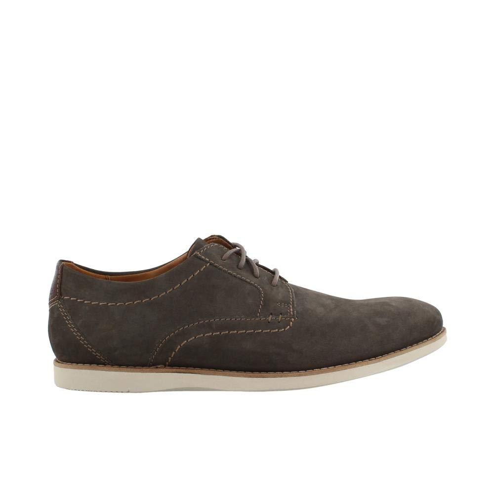 CLARKS Men's Raharto Plain Oxford Grey Nubuck 10.5 Medium US