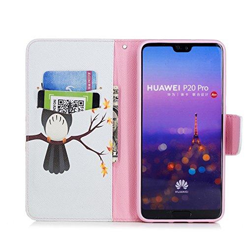 Huawei Magnetique Etui en Cuir de P20 Coque pour P20 Coque pour Pochette Housse avec Portefeuille Stand Huawei Protection Pro Housse P20 en Herbests téléphone Cuir Pro Eagle 2 etui de Huawei Fonction Pro Raba waq7C0