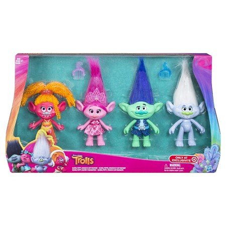 "Dreamworks Troll Dolls 4 Pack Exclusive 9"" Tall"