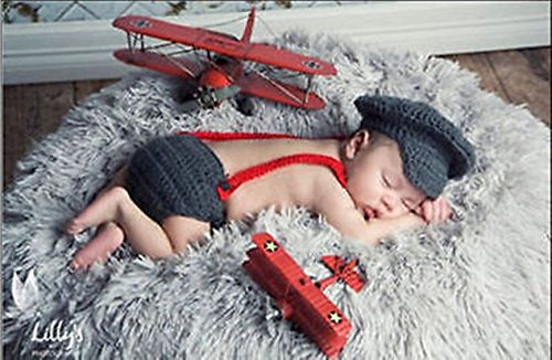 HOT-Newborn Baby Girls Boys Crochet Knit Costume Photo Photography Prop Outfits (Womens Plus Size Voodoo Doll Costume)