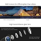 Video Projector, MEER 1600 Lumens 130'' Wide Screen LED Portable Projector with Built-in Speaker, for Home Entertainment Outside Movies Games Support iPad/iPhone /Smartphone/Laptop/Firestick/SD/USB