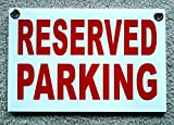 "1-Pc Superlative Popular Reserved Parking Sign Outdoor Message Yard Signs Store Decal Size 8"" x 12"" with Grommets"