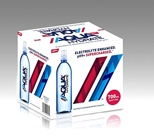 AQUAhydrate Electrolyte Enhanced Water Ph9+, 23.67  Fl. Oz (Pack of 12) by AQUAhydrate (Image #3)