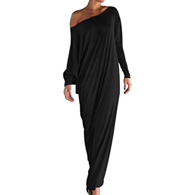157824de101 Lisli Women s Boho One Off Shoulder Caftan Sleeve Harem Maxi Dress ...