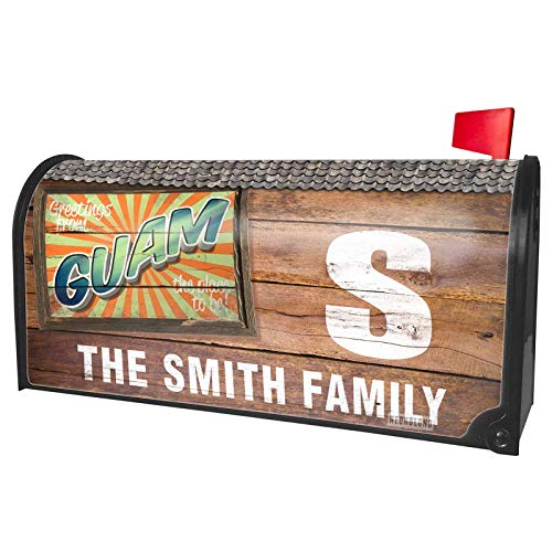 NEONBLOND Custom Mailbox Cover Greetings from Guam, Vintage ()
