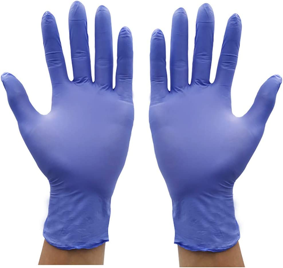 Work Cathalem Comfortable Disposable Multipurpose Nitrile Exam Gloves-Medical Grade,Powder Free,Latex Rubber Free,Heavy Duty,Textured Medical,Food Safe,Cleaning,Wholesale 100 PCS