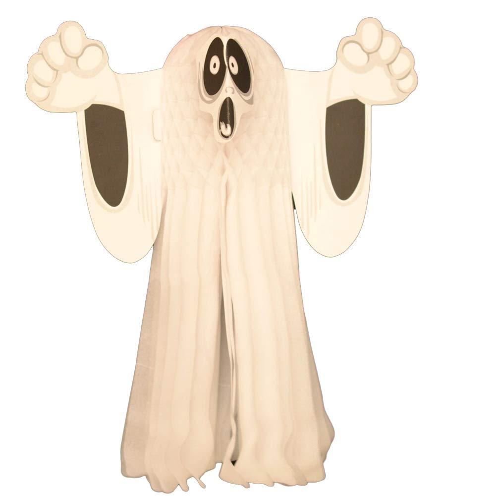 1 PC 3D Halloween Colgantes Fantasma de Papel Decoración para Halloween Oranment la celebración de Fiesta Inicio Pub Bar Decoración de Exteriores Hilai