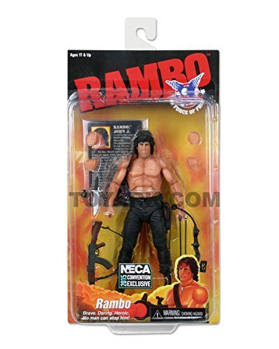 "SDCC 2015 NECA Exclusive Rambo The Force of Freedom 7"" Actio"