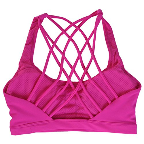 Sujetadores deportivos, Culater Mujeres Chaleco Top Bralette Bustier Push up Rojo