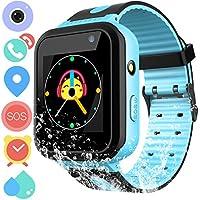 Reloj rastreador GPS impermeable para niños – IP67 resistente al agua Smartwatches teléfono con GPS/LBS Locator SOS cámara de voz Chat Juegos para vuelta a la escuela niños niñas
