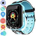 Waterproof GPS Tracker Watch for Kids - IP67 Water-Resistant Smartwatches Phone with GPS/LBS