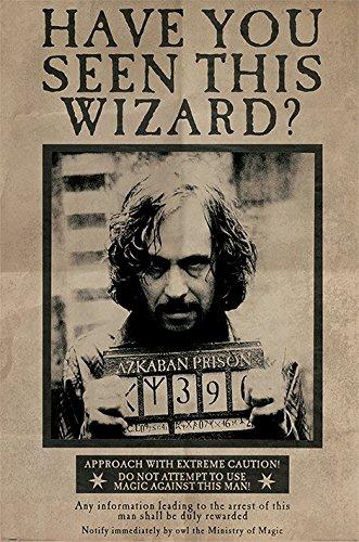 photo regarding Harry Potter Wanted Poster Printable referred to as Harry Potter and The Prisoner of Azkaban - Video clip Poster/Print (Preferred: Sirius Black) (Sizing: 24 inches x 36 inches)