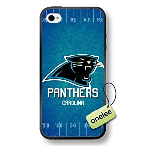 NFL Carolina Panthers Team Logo iPhone 4/4S Black Soft PC (Hard) Case Cover - Black