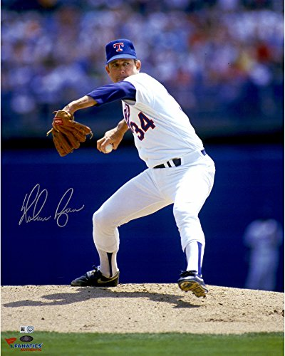 Nolan Ryan Texas Rangers Autographed 16'' x 20'' White Pitching with Ball in Hand Photograph - Fanatics Authentic - Hand 16x20 Photograph Pitching Signed