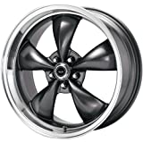 "American Racing Custom Wheels AR105 Torq Thrust M Anthracite Wheel With Machined Lip (17x8""/5x120.7mm, 0mm offset)"