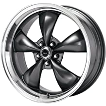 "American Racing Custom Wheels AR105 Torq Thrust M Anthracite Wheel With Machined Lip (16x7""/5x114.3mm, +35mm offset)"
