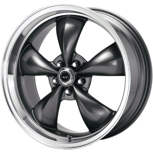 - American Racing Custom Wheels AR105 Torq Thrust M Anthracite Wheel With Machined Lip (18x8