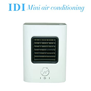YEEMEEL Portable Air Conditioner Small Desktop Fan Quiet Personal Table Fan  Mini Evaporative Air Circulator Cooler