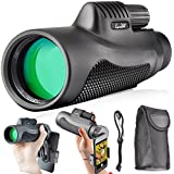 Landove Monoculars 10x42 Compact Monocular Spotting Scope HD Telescope for Camping Hunting Traveling Sporting Events Bird Watching with smartphone adapter and Carrying Case