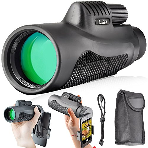 Landove Monoculars 10x42 Compact Monocular Spotting Scope HD Telescope for Camping Hunting Traveling Sporting Events Bird Watching with smartphone adapter and Carrying Case by Landove