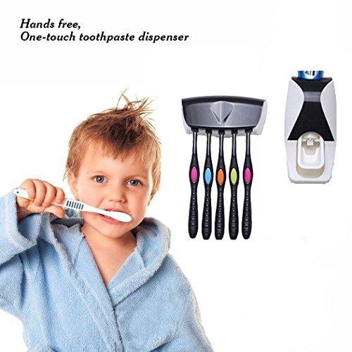 Hands-Free  Toothpaste Dispenser  (White) - 9
