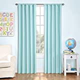 Eclipse Kids 13303042X095BLU Microfiber 42-Inch by 95-Inch Room Darkening Single Window Curtain Panel, Blue