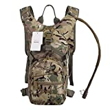 Seamand Hydration Backpack with 3L Water Bladder for Hiking and Climbing (CP Camo)