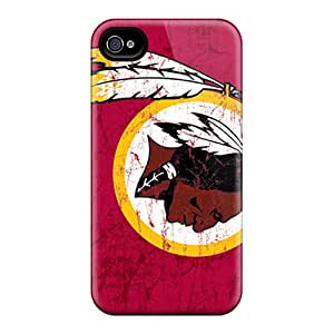 Protective Tpu Cases With Fashion Design For Iphone 6 (washington Redskins)