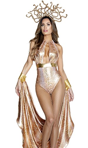 Forplay Women's Slither Sexy Medusa Costume, Gold, M/L]()
