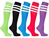 Socks n Socks-Women 5-Pairs Luxury Cotton Colorful Cool Fun Knee high Socks