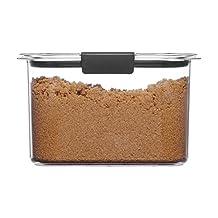 Rubbermaid Brilliance Contenedor hermético para Almacenamiento de Alimentos, Azúcar Morena (7.8 Copas), Brown Sugar (7.8 Cup), Open Stock, 1, 1