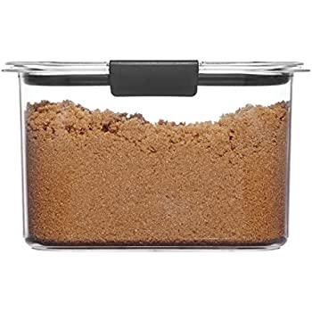Rubbermaid 1994225 Container, BPA-Free Plastic, Brilliance Pantry Airtight Food Storage, Open Stock, Brown Sugar (7.8 Cup)