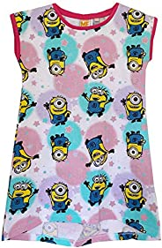 Despicable Me Minions Girls Character Nightie, Nightgown, T-Shirt, Top, Nightdress Cupcake and Stars Pattern