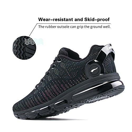Sport Gym Cushion Fitness Course Réflexions Noir Colorées Air Sneakers Homme Onemix Basket De Chaussures Aq77PH8