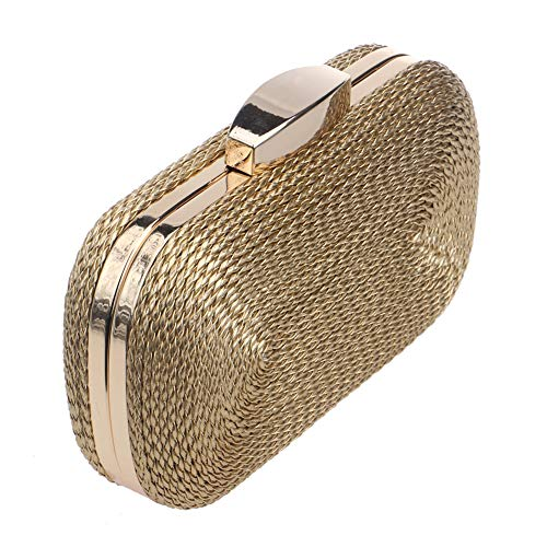 Square RLF A Clamshell Party LF Dress Makeup Wallet Wedding Bags Evening Weaving Storage By Banquet Evening Clutch Party Birthday Women's qwHYTX1x