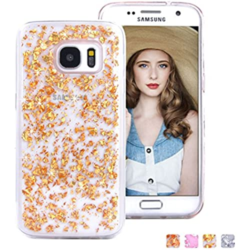 Galaxy S7 Case, HESPLUS [Luxury] [Bling] [Built-in Glitter] Sparkle Shiny Forever Bumper Shockproof Anti-scratch TPU Soft Gel Cover For Samsung Galaxy Sales
