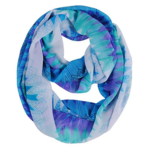 Veenajo Black Friday Women's Premium Soft Neckerchief Floral Print Sheer Infinity Scarf Colorful