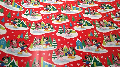 [Christmas Wrapping Minnie & Mickey Mouse Holiday Paper Gift Greetings 1 Roll Design Festive Wrap Disney] (Homemade Disney Halloween Costumes)