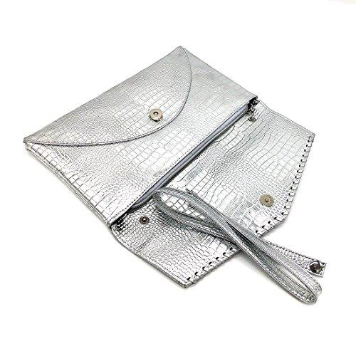 Bag Clutch Envelope Large Ladies Party Evening patent leather Ladies TnqAYA