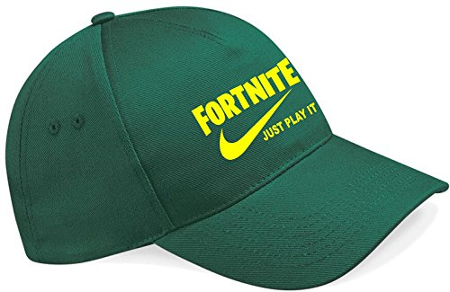 1b12aba7bf05 NEW Embroidered Fortnite Just play it parody gaming cap PS4 XBOX - Buy  Online in KSA. Clothing products in Saudi Arabia. See Prices