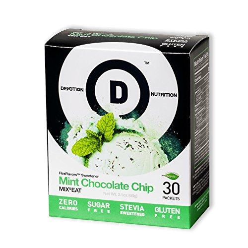 Devotion Nutrition Flex Flavors Stevia Instant Flavoring, Mint Chocolate Chip, Zero Calories, Sugar Free, Gluten Free, Stevia Sweetened, 30 Count