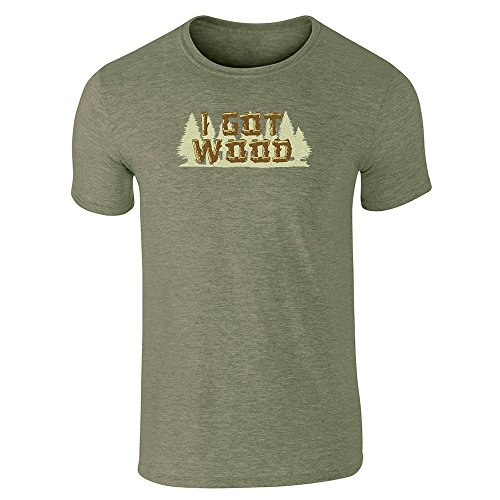 Pop Threads I Got Wood Halloween Costume Drinking Zombie Heather Military Green M Short Sleeve T-Shirt ()