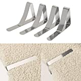 Table & Sofa Linens - Table Cloth Clips Picnic Tables Clip - 4pcs Stainless Steel Table Cloth Clips Table Cover Holder Wedding Party Picnic Clamp - Table Cloth Clips For Picnic Tables