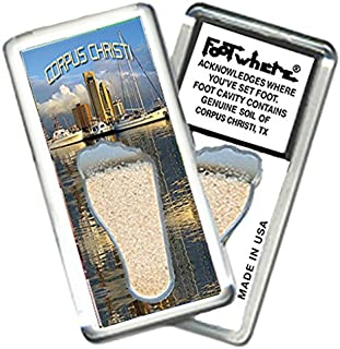 "product image for Corpus Christi""FootWhere"" Souvenir Fridge Magnet. Made in USA (CRC201 - by-The-Bay)"
